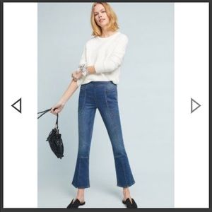 Anthropologie Pilcro high rise cropped jeans.